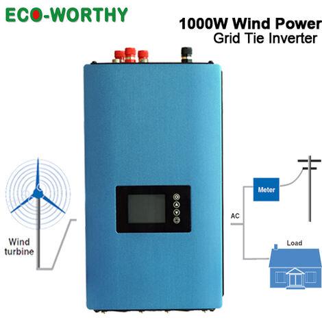 1000W Generador de energía eólica Inversor de conexión a red Inversor AC 110V 220V y MPPT