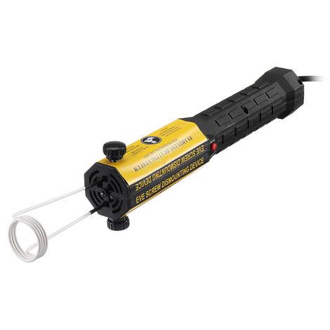 1000W Mini dissolvant de boulon de chauffage à Induction avec 6 bobines 2 fils Kit d'outils sans flamme outil de réparation de voiture de chauffage par Induction magnétique