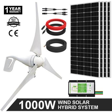 1000W Sistema de suministro de energía híbrido eólico y solar básico