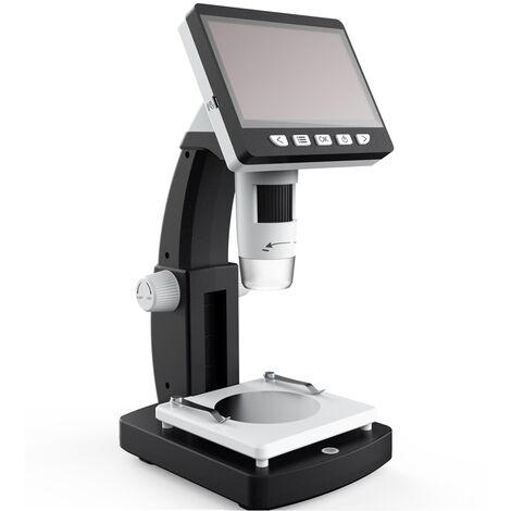 1000X Hd 1080P 8 Leds Portable Desktop Lcd Digital Microscope Height Adjustable With Screen Hasaki