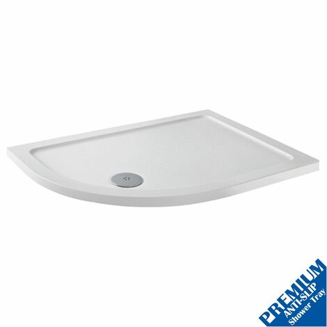1000x800 Offset LH Quadrant Shower Tray Low Profile Premium Anti-Slip FREE Waste