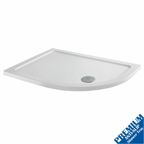 1000x800 Offset RH Quadrant Shower Tray Low Profile Premium Anti-Slip FREE Waste