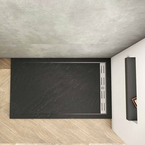 """main image of """"Waste&Drain Trap Luxury Shower Stone Tray Slate Square/Rectangle Effect+Free"""""""