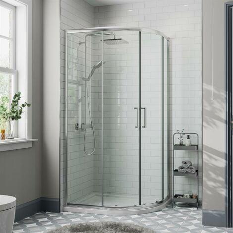 1000x800mm RH Offset Quadrant Shower Enclosure 8mm Safety Glass