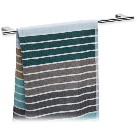 montaggio a parete in acciaio inox Portasciugamani da 20 cm nero