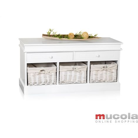 100cm chest of drawers bench wardrobe chest corridor bench white bench 2 drawers country house