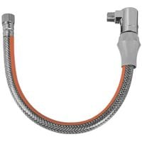 """100cm gas connection pipe dn12 g1/2"""" bsp male x female quick release elbow"""