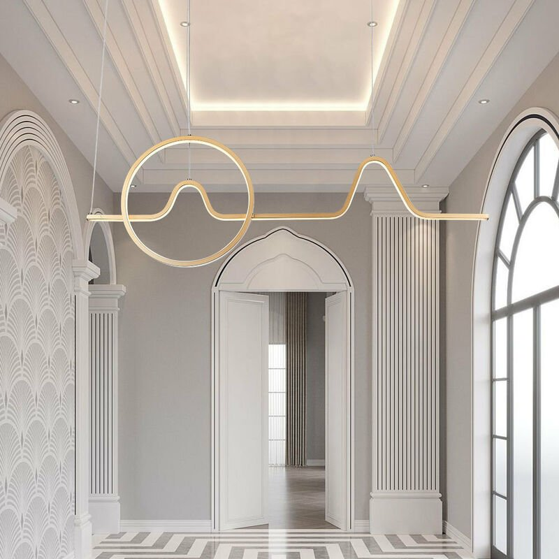Image of 100CM LED Ceiling Light Wire Pendant Lamp Chandelier Lights, Cool White