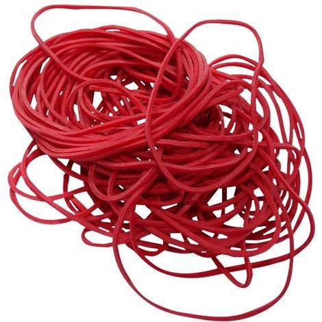 100gr bracelets rouges bandes élastiques Φ50mm 70% caoutchouc environ 280 pièces