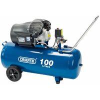 100L V-Twin Air Compressor (2,2kW) (65396)