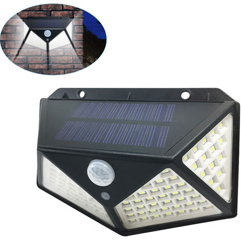 100LED Solar Light Motion Sensor Wall Lamp IP65 Water-resistant Outdoor Security Lighting Nightlight