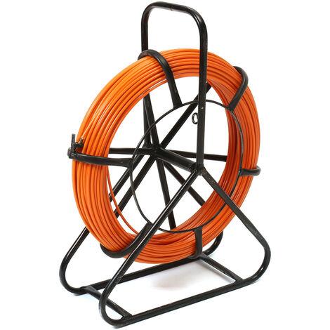 100M 4.5mm Aiguille Fibre de Verre Tire Fiberglass Cable Trainage électricien Mini Dévidoir Tire fils SwagX