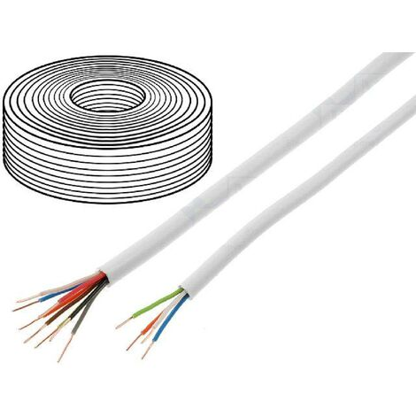 100m Cable video surveillance - YTDY - cuivre - 4x0.5mm - blanc ADNAuto