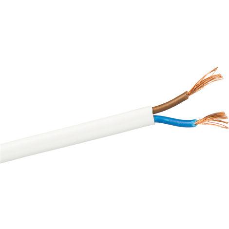 100m. manguera plana blanca 2x0,5mm2