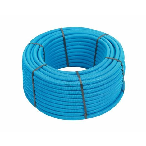 100ml multicouche gainé bleu 10bar-95°-Alu 0,2mm-O20x2.0