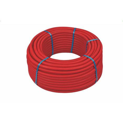 100ml multicouche gainé rouge 10bar-95°-Alu 0,2mm-Ø16x2.0