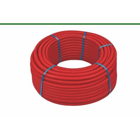 100ml multicouche gainé rouge 10bar-95°-Alu 0,2mm-O20x2.0