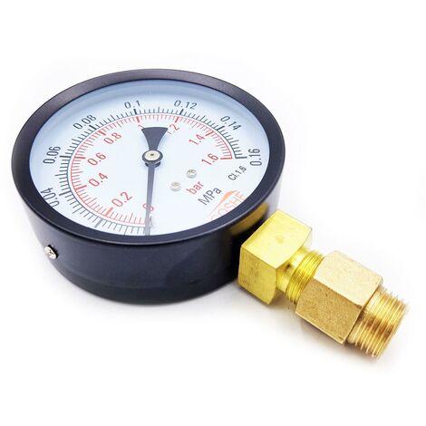 """100mm 2,5 bar manomètre d'entrée manomètre manomètre m20x1,5 + 1/2 """"bsp reduction"""