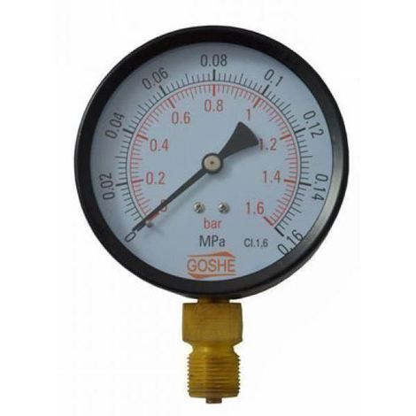 "100mm 4 Bar Side Entry Manometer Pressure Gauge M20x1,5 + 1/2"" BSP Reduction"