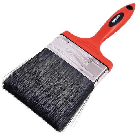 "100mm (4"") No Bristle Loss Paint Brush - Soft Handle"