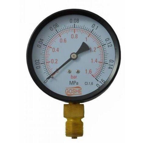 """100mm 6 Bar Side Entry Manometer Pressure Gauge M20x1,5 + 1/2"""" BSP Reduction"""