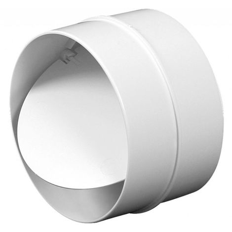 100mm Anti Backdraft Non-Return Pipe Connection White PVC Round Grille