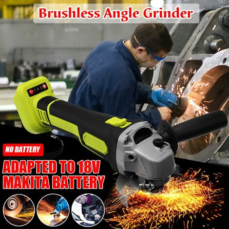 100mm Brushless Electric Angle Grinding Machine Cordless Woodworking Metal Cutting Power Tool For 18V Makita Battery