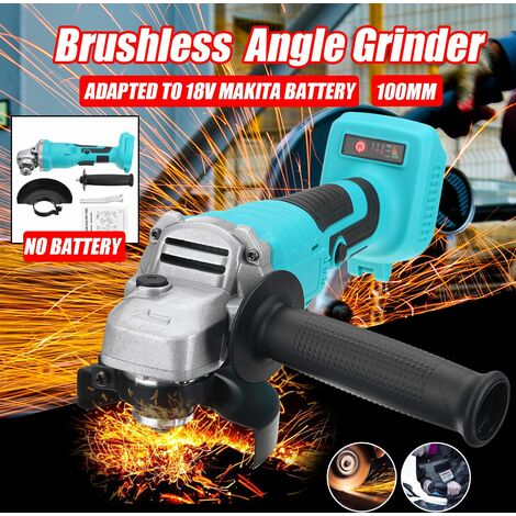 100mm Cordless Brushless Impact Angle Grinder without Battery for Makita 18V Battery