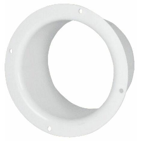 100mm Diameter White Plastic Ventilation Ducting Pipe Wall Plate Spigot