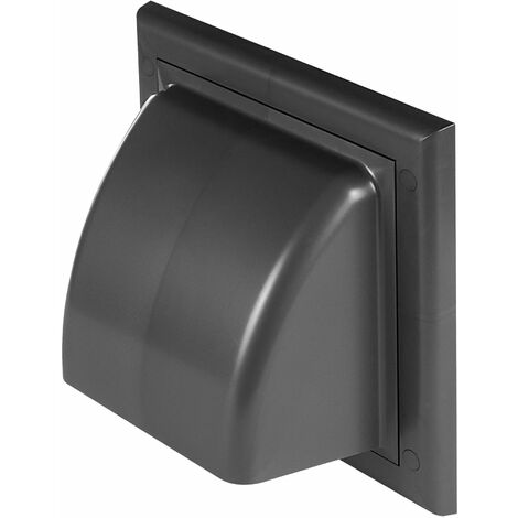 100mm Grey Vents Ventilation Grate Covering Return Flap ABS Outer Cover