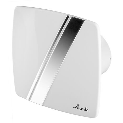 100mm Humidité Detecteur Hotte Ventilateur Blanc ABS Panneau Avant LINEA Mur Plafond Ventilation