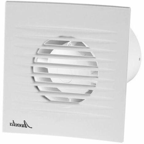 100mm Humidité Detecteur Hotte Ventilateur Blanc ABS Panneau Avant RIFF Mur Plafond Ventilation