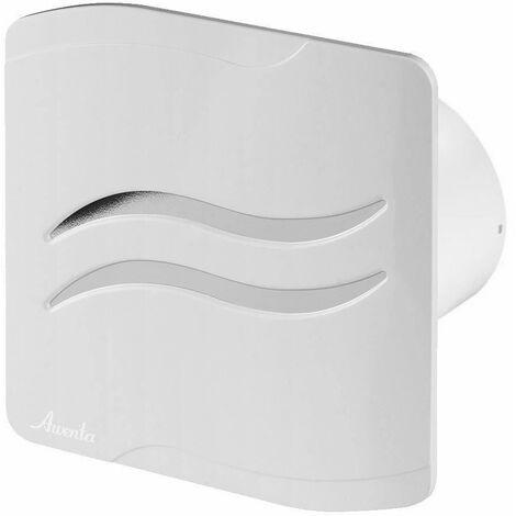 100mm Humidité Detecteur Hotte Ventilateur Blanc ABS Panneau Avant S-LINE Mur Plafond Ventilation