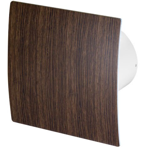 100mm Humidité Detecteur Hotte Ventilateur Bois de Wengé ABS Panneau Avant Escudo Mur Plafond Ventilation
