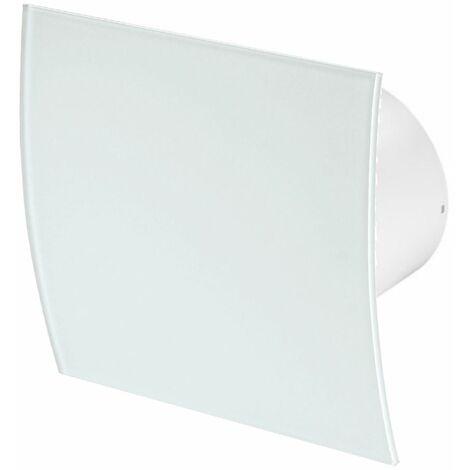 100mm Humidité Detecteur Hotte Ventilateur Verre Blanc Panneau Avant Escudo Mur Plafond Ventilation