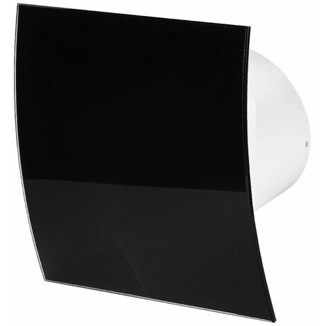 100mm Humidité Detecteur Hotte Ventilateur Verre Noir Brillant Panneau Avant Escudo Mur Plafond Ventilation