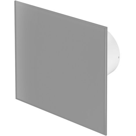 100mm Pull Cord Extractor Fan Matte Grey Glass Front Panel TRAX Wall Ceiling Ventilation