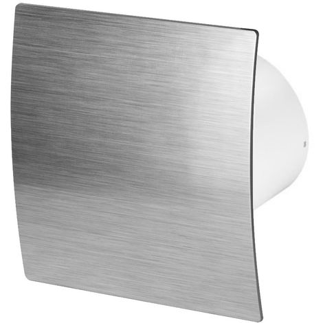 100mm Pull Cord Extractor Fan Silver ABS Front Panel ESCUDO Wall Ceiling Ventilation