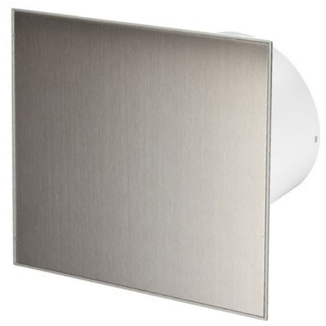 100mm Standard Extractor Fan Inox Front Panel TRAX Wall Ceiling Ventilation