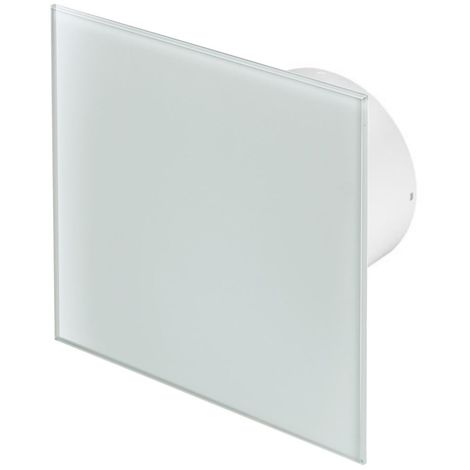 100mm Standard Extractor Fan IWhite Glass Front Panel TRAX Wall Ceiling Ventilation