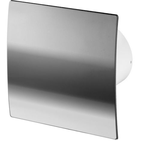 100mm Timer Extractor Fan Chrome ABS Front Panel ESCUDO Wall Ceiling Ventilation