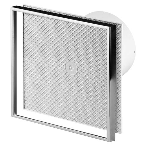100mm Timer Extractor Fan Custom Cermaic Tile INSIDE Front Panel
