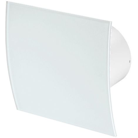 100mm Timer Extractor Fan White Glass Front Panel ESCUDO Wall Ceiling Ventilation