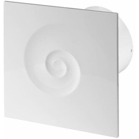 100mm Timer Hotte Ventilateur Blanc ABS Panneau Avant VORTEX Mur Plafond Ventilation