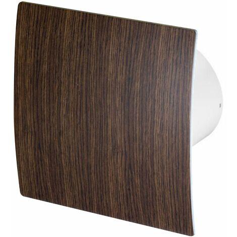 100mm Timer Hotte Ventilateur Bois De Wengé ABS Panneau Avant Escudo Mur Plafond Ventilation