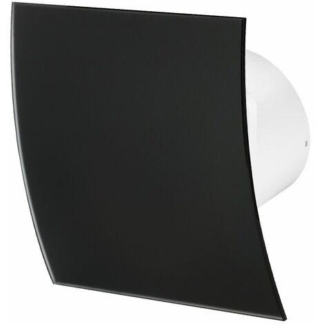 100mm Timer Hotte Ventilateur Verre Noir Mat Panneau Avant Escudo Mur Plafond Ventilation