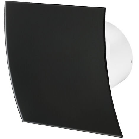 100mm Tirette Hotte Ventilateur Verre Noir Mat Panneau Avant Escudo Mur Plafond Ventilation
