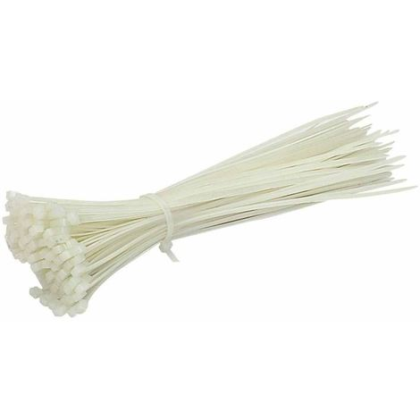 100pcs White Small Nylon 2.5mm Plastic Cable Ties, Zip Tie Wraps, 120mm long