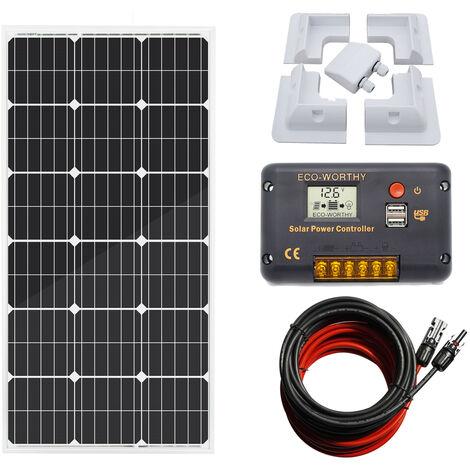 100W contrôleur de charge du panneau solaire 20A mono pour la puissance RV de caravane 12V de bateau de camp