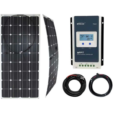 """main image of """"100w Flexible Solar Panel Charging Kit with MPPT Charger Controller"""""""